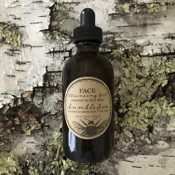 Bottle of face cleansing oil