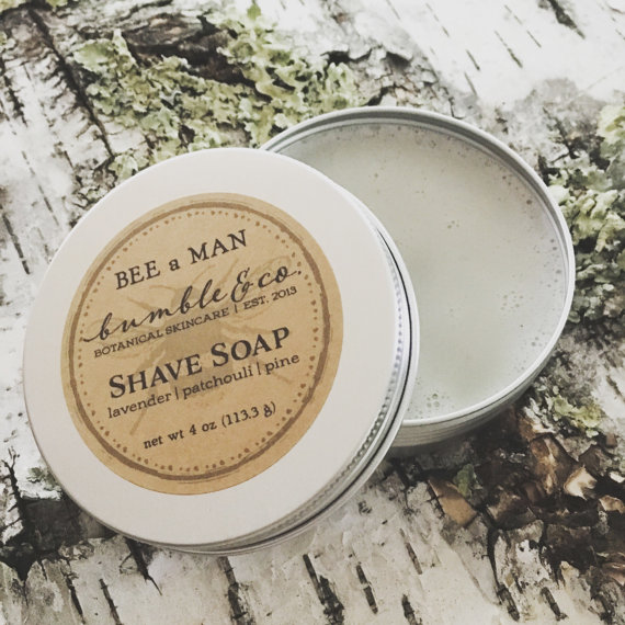 4 oz tin of natural shave soap