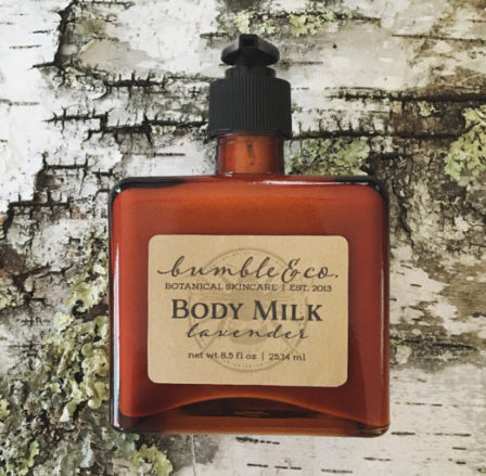 Bottle of Lavender Body Milk