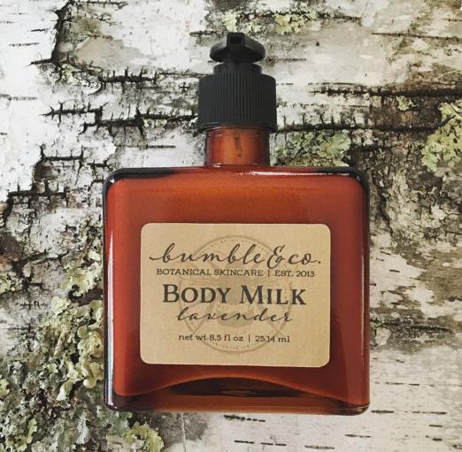 Bottle of Lavender Body Milk