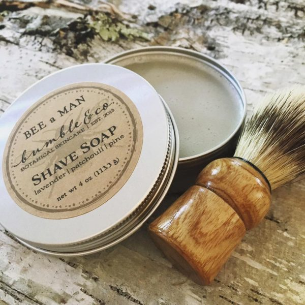 Lavender and patchouli shave soap
