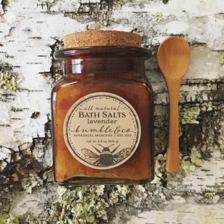 Bottle of Lavender Bath Salts