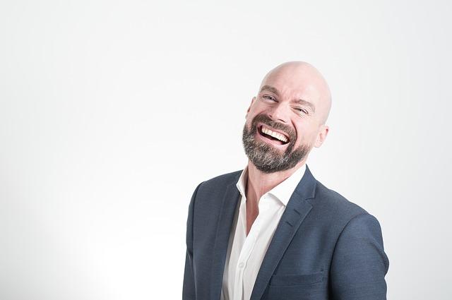 Bald man with full beard